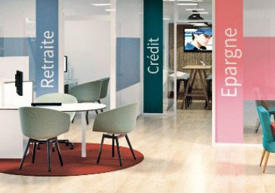 Mobiliers de bureau et supports de communication AXA