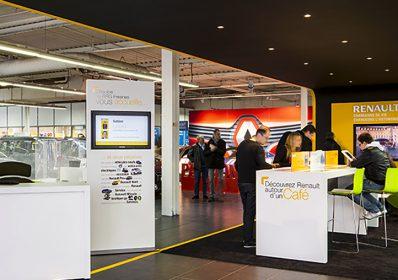 Mobilier sur mesure pour les concessionnaires Renault