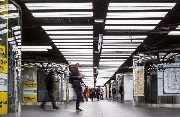 Dalles extra plates à éclairage led RATP