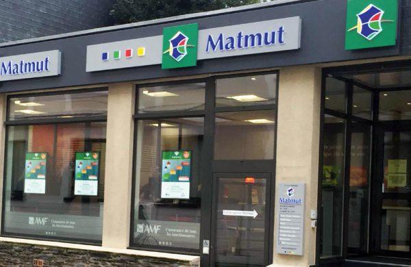 Porte-affiche LED de vitrine MATMUT