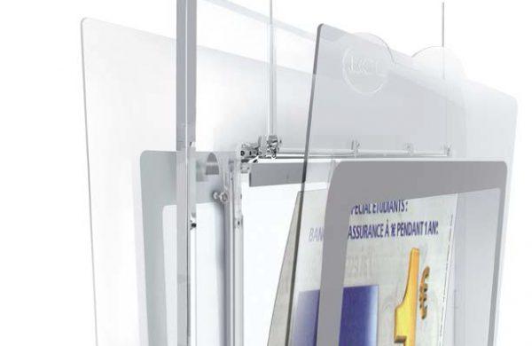 Schéma coupe porte affiches vitrine led LCL