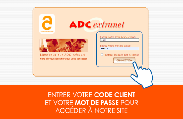 Extranet et reporting page d'accueil