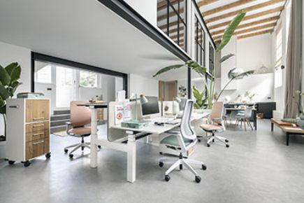 Espaces de travail mobiliers sur catalogue