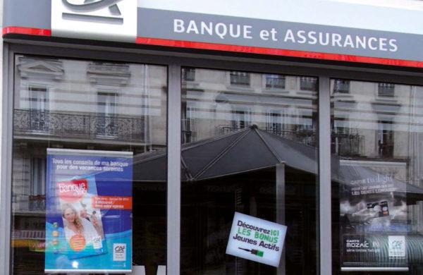 Porte-affiches led de vitrine-Crédit Agricole