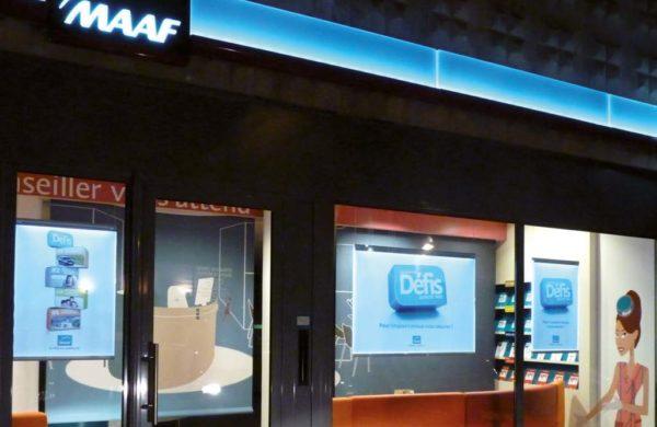Porte-affiche LED de vitrine - MAAF